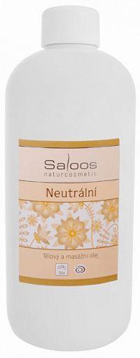 Saloos Bio telový a masážny olej - Neutrálny 500 ml