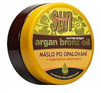 SUN Zvláčňujúce maslo Argan bronz oil s glitrami po opaľovaní 200 ml