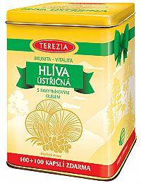 Terezia Company Hliva ustricová s rakytníkovým olejom 100 kapsúl + 100 kapsúl - darčekové balenie v plechovej dóze