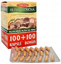 Terezia Company Hliva ustricová sa 100% rakytníkovým olejom 100 kapslí + 100 kapslí ZD ARMA