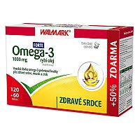 Walmark Omega 3 rybí olej Forte 120 tob. + 60 tob. ZD ARMA