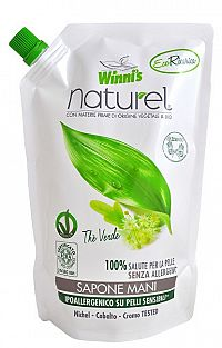 Winni´s Naturel Thé Verde tekuté mýdlo se zeleným čajem a aloe vera náplň 500 ml