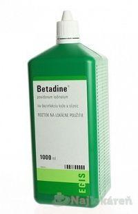Betadine dezinfekčný roztok 100mg/ml sol.der.1 x 1000 ml