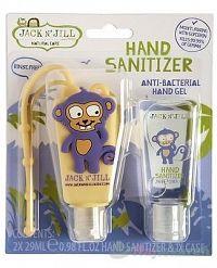 Jack N´Jill Antibakteriálny gél na ruky pre deti Opica 2 x 29 ml