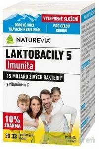SWISS NATUREVIA Laktobacily 5 imunita, 33 kapsúl