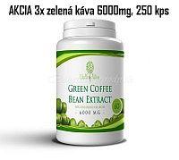 AKCIA 3xZelená káva 6000mg, 250 kapsúl