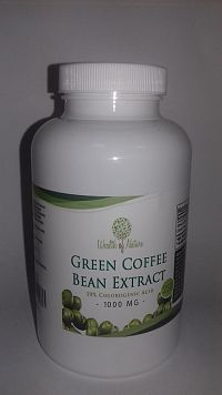 Zelená káva 1000mg, 250 kapsúl