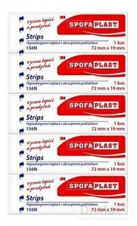 3M SPOFAPLAST č.156N Náplasť strips 72mm x 19mm, kusová 1x5 ks