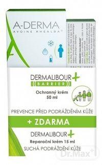 A-DERMA DERMALIBOUR+BARRIER CREME (Akcia) ochranný krém 50 ml + reparačný krém 15 ml () 1x1 set