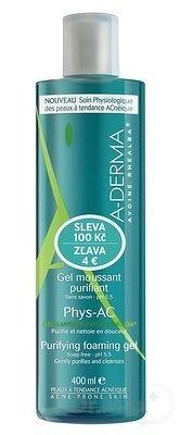 A-DERMA PHYS-AC GEL MOUSSANT PURIFIANT () čistiaci penivý gél 1x400 ml