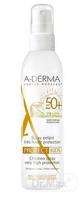 A-DERMA PROTECT KIDS SPRAY SPF50+ sprej pre deti (krehká fragilná koža) 1x200 ml