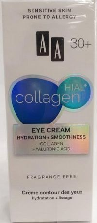 AA Cosmetics Collagen HIAL+ hydratačný a vyhladzujúci očný krém 30+ 15 ml