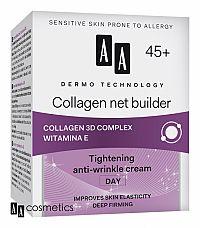 AA Dermo Technology 45+ Protivráskový DENNÝ KRÉM na vypnutie pleti s kolagénom a vitamínom E 50 ml