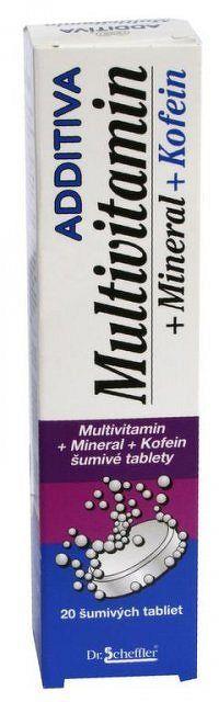 ADDITIVA MULTIVITAMÍN + Minerál + Kofein tbl eff 1x20 ks