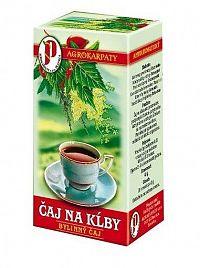 Agrokarpaty ČAJ NA KĹBY bylinný čaj čistý prírodný produkt 20 x 2 g