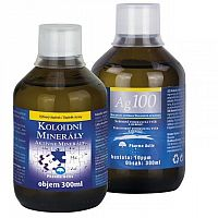 Aktívne minerály extra + Ag 100 10ppm 300 ml +300 ml