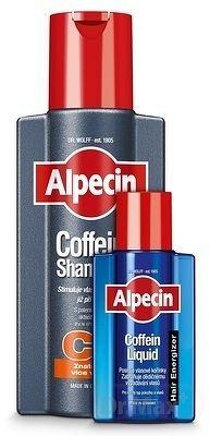 ALPECIN kofeínový šampón C1 Promo Pack šampón 1x250 ml + Hair Energizer Liquid kofeínové tonikum 1x75 ml , 1x1 set