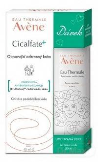AVENE CICALFATE+ CRÈME REPARATRICE + Darček obnovujúci krém 40 ml + Darček: Termálna voda 50 ml, 1x1 set
