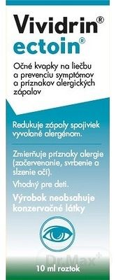 Bausch & Lomb Očné kvapky Vividrin ectoin 10 ml