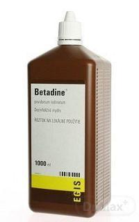 Betadine dezinfekčné mydlo 75 mg/ml sol der (fl.plast.hnedá) 1x1000 ml