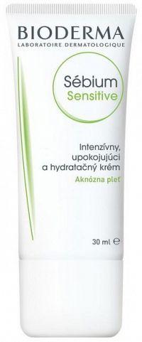 BIODERMA Sébium Sensitive 30 ml, intenzívny krém, aknózna pleť