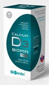 BIOMIN CALCIUM NEO S VITAMÍNOM D3 cps 1x90 ks