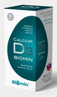 BIOMIN CALCIUM S VITAMÍNOM D3 cps 1x60 ks