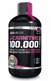 BioTech USA L-carnitín 100 000 ml 500ml, jablko