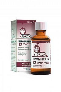 BROMHEXIN 12 KVAPKY KM gtt por (liek.skl.hnedá+kvapkadlo) 1x50 ml