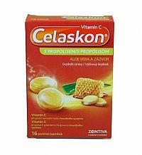 Celaskon Vitamin C s propolisom aloe vera a zázvor 16 pastiliek pastilky 2 x 8 ks 16 ks