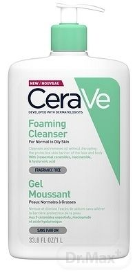 CeraVe Cleansers čiastiaci penivý gél pre normálnu až mastnú pleť 1000 ml