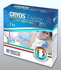 CRYOS FARMA gélové vankúšiky (studený alebo teplý obklad pri poraneniach) 12x12 cm, 1x2 ks