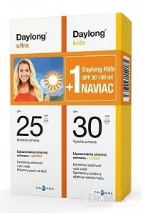 Daylong ultra SPF 25 + Kids SPF 30 NAVIAC spray 150 ml + lócio 100 ml, 1x1 set