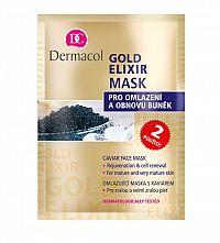 Dermacol Gold Elixir Mask Omlazující maska s kaviárem pro všechny typy pleti 16 ml