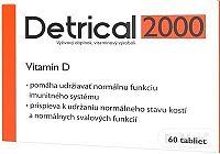 Detrical 2000 Vitamín D 60 tabliet, 2000 IU