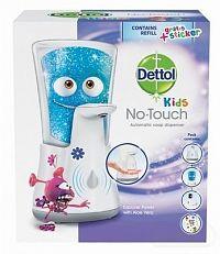 Dettol Kids Dobrodruh (Aloe vera) bezdotykový dávkovač mydla + náplň 250 ml + samolepky, 1x1 set