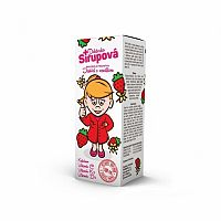 Doktorka Sirupová kalciový sirup s príchuťou jahôd s vanilkou 100 ml