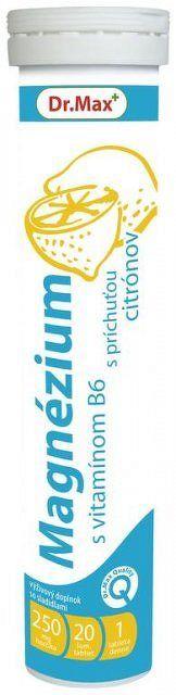 Dr.Max Magnézium s vitamínom B6 20 šumivých tabliet