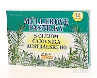 Dr. Müller MÜLLEROVE PASTILKY S ČAJOVNÍKOM AUSTRALSKEHO (ťažkosti v ústach) 12 ks