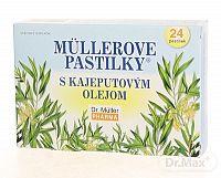 Dr. Müller MÜLLEROVE PASTILKY S KAJEPUTOVÝM OLEJOM (ťažkosti v hrdle) 24 ks