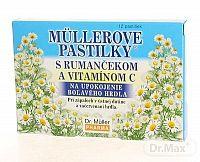 Dr.Müller MÜLLEROVE PASTILKY S RUMANČEKOM A VIT. C na hrdlo 12 ks