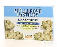 Dr. Müller MÜLLEROVE PASTILKY SO ZÁZVOROM (zahriatie) 12 ks