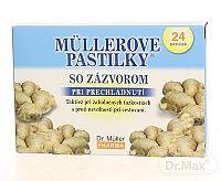 Dr. Müller MÜLLEROVE PASTILKY SO ZÁZVOROM (zahriatie) 24 ks
