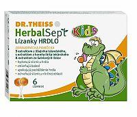 Dr.Theiss HerbalSept Kids lízanky HRDLO 6ks