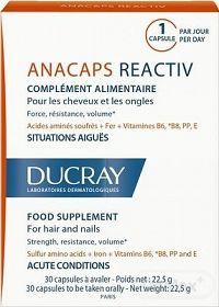 DUCRAY ANACAPS REACTIV cps pre vlasy a nechty 1x30 ks