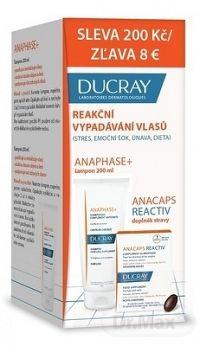 DUCRAY ANAPHASE+ SHAMPOO () stimulujúci krémový šampón 200 ml + ANACAPS REACTIV cps 30 ks, 1x1 set