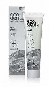 Ecodenta EXTRA Triple effect zubná pasta bieliaca (s bielym ílom, propolisom a Teavigo) 1x100 ml
