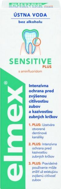 ELMEX ÚSTNA VODA SENSITIVE PLUS 1x400 ml