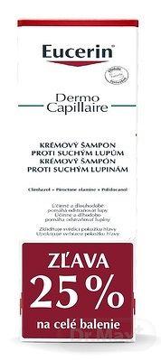Eucerin DermoCapillaire Krémový Šampón suché lupiny, 2x250 ml (1+1 PROMO 2020, ) 1x1 set