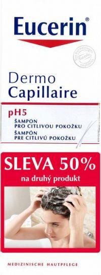 Eucerin DermoCapillaire pH5 šampón pre citlivú pokožku 2x250 ml (-50% na druhý produkt, 2017), 1x1 set